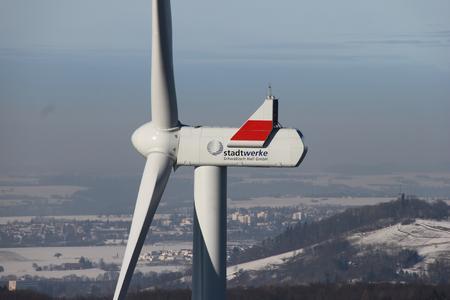 Windenergieanlage an der Kohlenstrasse vom Typ Vestas 126-3.3
