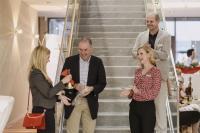 von links: Organisatorische Leiterin der Academy Susanne Brandl, Referent Prof. Dr. med. Andreas Blum, Marketingleiterin Kathrin Niemela, Geschäftsführer Andreas Mayer (Foto: © Fritz Bielmeier)