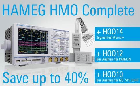 Oszilloskoppaket HMO-3052 oder HMO-3054 ink. Optionen HOO-10, HOO-12, HOO-14 und HO3508
