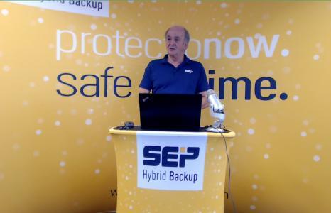 Georg Moosreiner, Vorstand und Mitgründer der SEP AG eröffnete Die SNAP Partner Days 2020, die diesmal online stattfanden