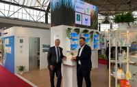 (v.l.n.r.) Dierk Schumacher, Sebastian Schnabel (ClimatePartner GmbH)