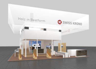 SWISS KRONO Messestand auf der DACH+HOLZ International / Foto: SWISS KRONO
