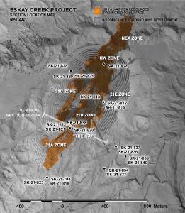 Skeena durchschneidet 4,94 g/t AuEq über 8,20 Meter bei Eskay Creek in euem mineralisiertem Korridor