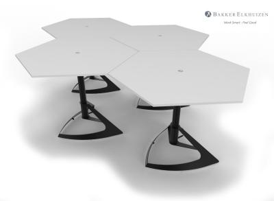 Honeycomb Dlite Steh-Sitz Tisch - modular
