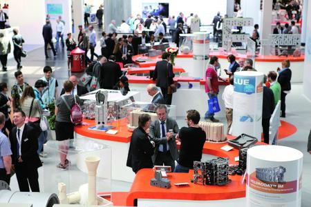 Product presentation at stand of ASK Chemicals at GIFA 2015