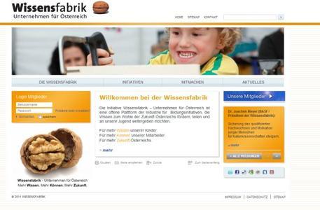 Der neue Internetauftritt der Wissensfabrik Österreich.