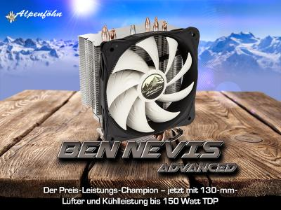 NEU bei Caseking: Die optimierte Advanced Edition des Alpenföhn Ben Nevis Allround-Kühlers
