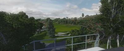 Golfsimulator fairway