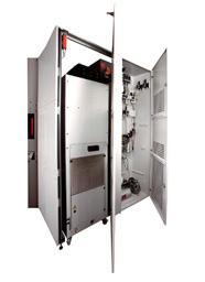 Rückseite eines Hermle-BAZ mit integriertem Kühlsystem und Energierückführungseinheit