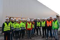 25 Studierende der FH Münster, Fachbereich Bauingenieurwesen, erhielten einen Einblick in die Großbaustelle zum neuen Schlatter Standort am Hessenweg.