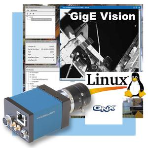 Prosilica SDK for GigE Vision Cameras supports Linux and QNX