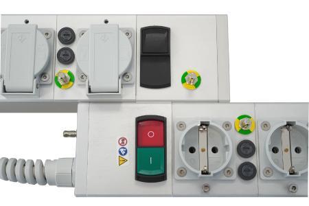 Modulare Steckdosenleiste e-medic™ MEDX jetzt mit Sicherungs- und USB-Lademodulen kombinierbar (Foro: Baaske Medical)