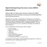 [PDF] Pressemitteilung: Digitale Betriebsprüfung: Finanzämter weiten GDPdU-Datenzugriff aus