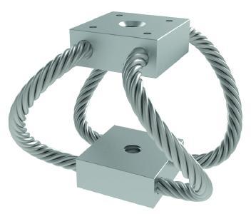 Zu der neuen Serie der Drahtseilfedern von ACE zählen auch sieben verschiedene Kompaktfedertypen in unterschiedlichen Ausführungen mit Kabeldurchmessern von 1,59 mm bis 6,35 mm und zur Montage mit Gewinden von M3x0,5 bis M8x1,25 (Bild:ACE Stoßdämpfer GmbH)