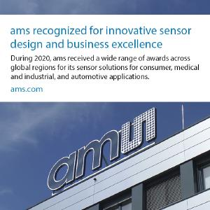 ams awarded IoT Wearables Innovation of the Year /  copyright ams AG