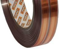 Two strips of copper on a selfadhesive carrier