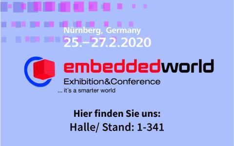 BRESSNER Technology auf der embedded world 2020 Halle/ Stand: 1-341