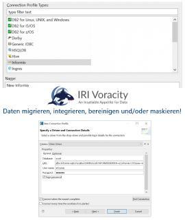 Alles, was Sie brauchen: Vereinfacht in einer GUI basierend auf Eclipse™!  1. Datenermittlung, Profilerstellung, Klassifizierung und Metadatendefinition 2. Sehr große Datenbank (VLDB) Extraktion (E) 3. Datentransformation (T), Laden (L) und BI / Datenwrangling 4. DW ETL, Change Data Capture und DB-Reorgs 5. Datenmigration und -replikation 6. Datenmaskierung, Verschlüsselung und Re-ID-Risikobewertung 7. Testdatengenerierung