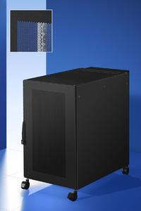 Mit dem TS 8 Server-Rack Plus stellt Rittal einen Serverschrank vor, in dem die komplette IT-Infrastruktur eines kleinen Unternehmens oder einer Filiale sicher und komfortabel untergebracht werden kann