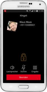"it-sa 2014 zeigt Abhörschutz-App Vodafone ""Secure Call"" auf iPhone 6"