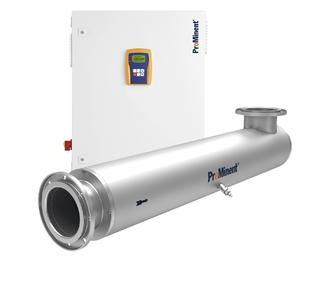 Dulcodes LP for UV disinfection with a maximum flow of up to 523 m3/h and minimum energy consumption.