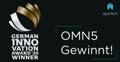 OMN5 gewinnt den German Innovation Award 2020