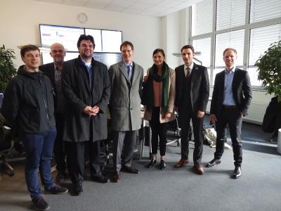 Vertreter des BMWi, Bitkom e.V. und der Stadt Leipzig zu Besuch bei der e2m am 1. März
