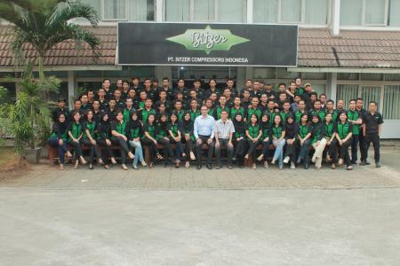Looking forward to many more years to come: BITZER Indonesia's employees