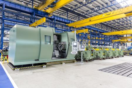 Type TCG threading machine with rotating pipe supplied by SMS group to JFE Chita Works