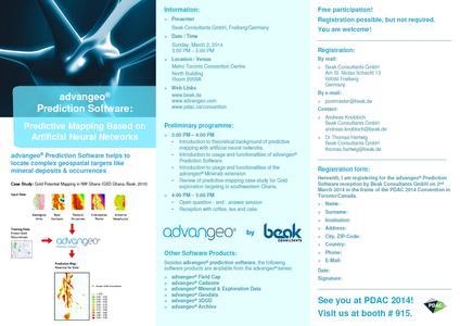 advangeo® Prediction Software