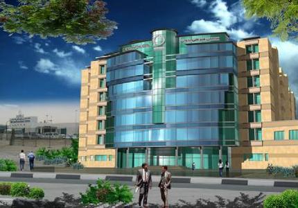 Im Bau befindlicher Erweiterungsbau des CEDARS Jebel Ali International Hospitals