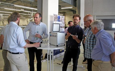 Vier Start-ups aus dem Bereich der Temperierung präsentierten Ihre Lösungen im Rahmen einer Ausstel-lung anlässlich des 80. Geburtstags von Dr. Gerhard Wobser. (Quelle: Peter D. Wagner)