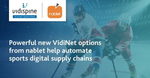 New AI-driven features of particular interest to the sports broadcast market by VidiNet and nablet (Copyright: Arvato Systems)