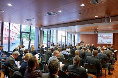 Eröffnungsworte der bionection 2015 in der BIO CITY LEIPZIG / Foto: Hans-Georg Unrau