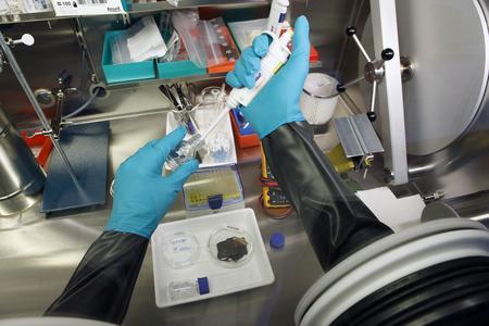 Für die Herstellung elektrochemisch reaktiver Materialien wird eine Schutzatmosphäre mit Feuchte-Ausschluss benötigt.