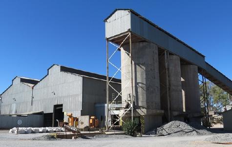 Auf der Kupfermine Kombat; Foto: Trion Metals
