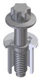 Bei einer kosteneffizienten Variante werden Schraube und Hülse miteinander verprägt – ohne Zusatzelement / Bild: Arnold Umformtechnik