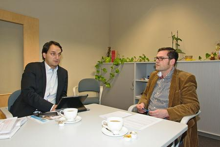 René Ebert, Geschäftsführer des SIBB e.V. (li.i.B.) und Kai Rückewold von pro agro haben für ihre Mitgliedsunternehmen eine fruchtbare Zusammenarbeit angestoßen. Foto: Ines Weitermann/ Presse & Marketing