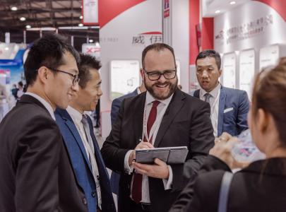 In addition to the celebrations for the anniversary Dr. Gunther Wobser attended. the international trade fair analytica China, where LAUDA had its own booth.