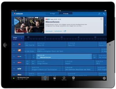 More freedom with Swisscom TV: time-delayed television viewing and channel changing with the iPad