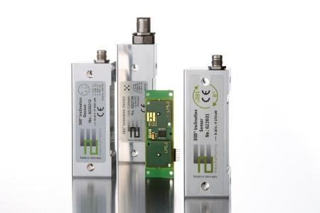 Photo: Different versions of the 2E Inclination Sensor, 2E mechatronic GmbH & Co. KG