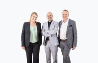 Die Geschäftsleitung der Finesolutions AG (v.l.n.r.): Lea Derendinger, Carlo Losurdo und Markus Eberhard.