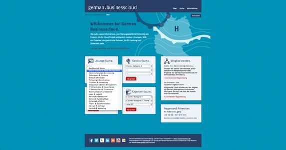 German Businesscloud Screenshot