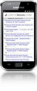 cobra Adressliste Android