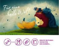 Die Kampagne zeigt das moderne Märchen von einer idealen, plastikfreien Welt.