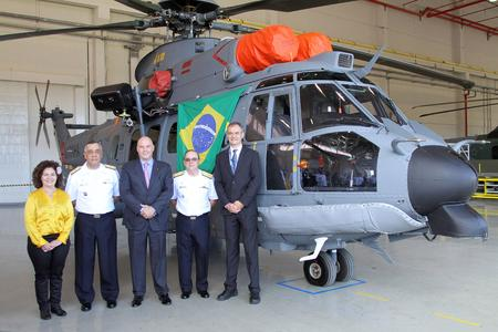 Airbus Helicopters delivers the first EC725 produced in Brazil © Copyright F. Christ - 2014