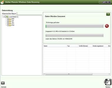 Bietet umfassende Datenrettung: Stellar Phoenix Data Recovery für Windows v5 (Screenshot)