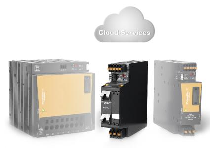 Weidmüller PRO COM communication module: The pluggable PRO COM communication module by Weidmüller is the first to offer full communication capabilities from the field level to the cloud