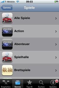 Screenshot AppStore Kategorie Icon