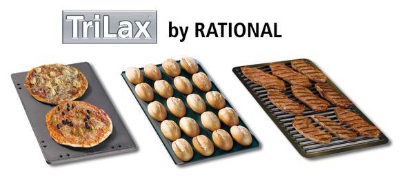 Neu: TriLax® Beschichtung von RATIONAL, perfekte Garergebnisse und Antihaftei-genschaften, robust und langlebig